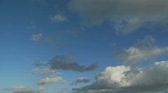 Cloud timelapse - stock footage