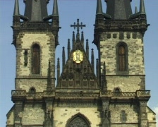 Gothic cathedral Stock Footage