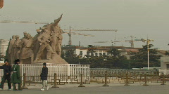 Tiananmen Square in Beijing, China Stock Footage