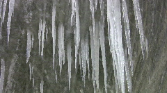 Icicles and snow. Stock Footage