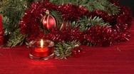 Christmas scene, dolly shot Stock Footage