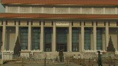 Mao tse-tung mausoleum on Tiananmen Square in Beijing, China Stock Footage