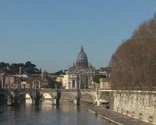 Dome of Saint Petro basilica in Rome Stock Footage