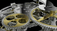 Clockwork mechanism  with alpha mask Stock Footage