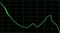 Downturn graph - clean for graphics Stock Footage