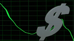 Jittery Dollar Graph Stock Footage