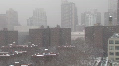 nyc buildings snowstorm day  - stock footage