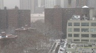 Stock Video Footage of nyc ms buildings snowing day