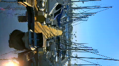Vertical scene of a marina Stock Footage