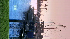 Vertical view of a marina Stock Footage