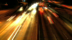 Night traffic in Los Angeles Stock Footage