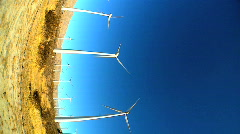 Vertical  view of wind turbines Stock Footage