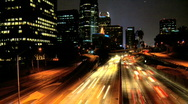 Night driving in Los Angeles Stock Footage