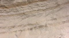 Strata of volcanic ash  - stock footage
