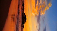 Stock Video Footage of Vertical view of beach sunset