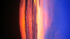Vertical view of a beach sunset Stock Footage