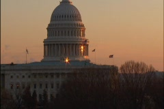 US Capitol at Sunset - 3 Shots - stock footage