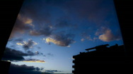 Time lapse sequence of sunset from my window Stock Footage