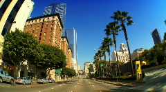 Streets of Los Angeles - stock footage