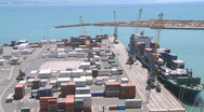 Stock Video Footage of container loading time lapse