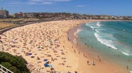 Stock Video Footage of Bondi Beach in Sydney during summer PT1
