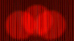 3D Curtains Stock Footage