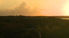 Florida Everglades swamp at sunset Stock Footage