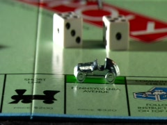 Monopoly car luxury wide - stock footage