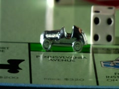 Monopoly car luxury Stock Footage