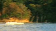 Boating on Lake Stock Footage