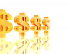 Golden dollar signs, PAL Stock Footage