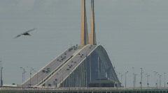 The Sunshine Skyway Bridge Stock Footage