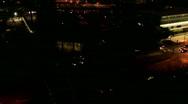 Night traffic pan Stock Footage