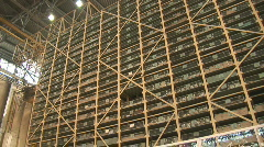 Automated warehouse general view Stock Footage