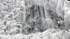 Close up of frozen waterfalls - stock footage