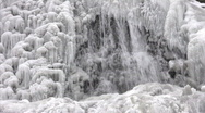Stock Video Footage of Close up of frozen waterfalls