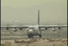 C 130 Landing Stock Footage