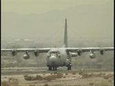 Stock Video Footage of C 130 Landing