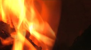 Burning Campfire Logs Stock Footage