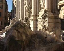 Fountain di Trevi in Rome Stock Footage