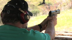 Man firing Gun Stock Footage