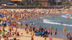 Bondi Beach in Sydney during summer PT8 Stock Footage