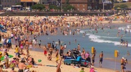 Stock Video Footage of Bondi Beach in Sydney during summer PT8