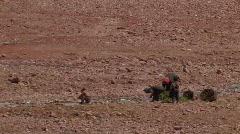 Poor family in Tibet. - stock footage