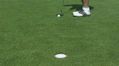 Golf Putt Missed and then Made - stock footage