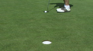 Golf Putt Missed and then Made Stock Footage