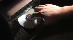 Ejecting CD-ROM 259 Stock Footage