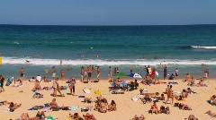Bondi Beach in Sydney during summer PT10 Stock Footage