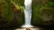 Beautiful Waterfall Oregon Stock Footage