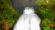 Multnomah Falls Aerial Stock Footage